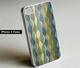 Art Deco Blue Pattern - iPhone 4 Case, iPhone 4s Case, iPhone 5 Case Hard Plastic Case