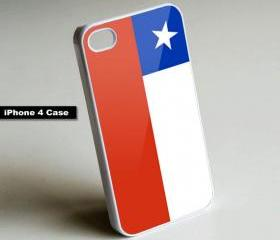 Chile Flag - iPhone 4 Case, iPhone 4s Case, iPhone 5 Case Hard Plastic Case